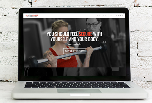 Screenshot of Devlin Fitness website, portfolio item